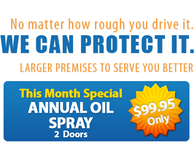 We can protect your car. Rust Proofing in Toronto